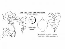 Arum Lilly and leaf (Life size set of 2)
