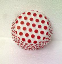 CCups Printed #14/12 (80) Polka Dots White & Red