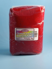 Plastic Icing Coloured Red 1kg