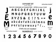 Cutter - Alphabet Cutter  (64 Characters Up/L