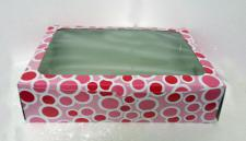12 Cupcake Box Window Pink with insert