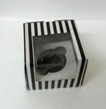 Cupcake Box Window Black and white stripes (12)