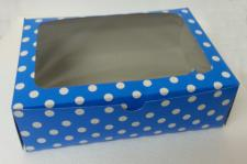 6 Cupcake Box Window Blue with insert