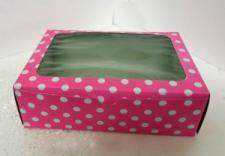 6 Cupcake Box Window Pink with insert