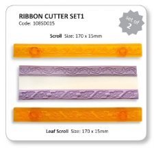Ribbon Cutter - Scroll & Leaf (set 1)