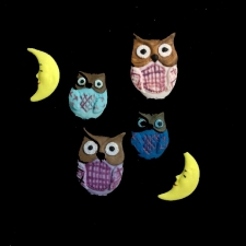 Icing Decor - Owls & Half_Moon