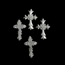Icing Decor - Crosses - Silver