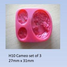 Cameo set of 3 (H10).