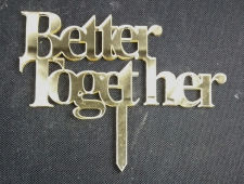 Mirror Topper - Better Together - Gold