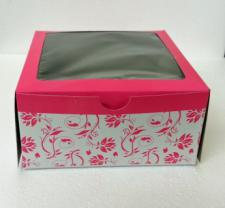 4 Cupcake Box Window Printed with insert
