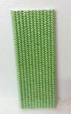 Straws (25)Green Chevron
