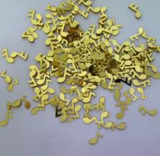 Confetti (16g)Musical Notes Small Gold