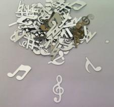 Confetti (16g) Musical Notes Silver