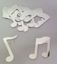 Confetti (16g) Musical Notes Silver Large