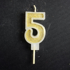 Candle - Five - Gold