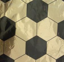 Soccer Ball Gold and Black Foil (2.3m x 0.5m)
