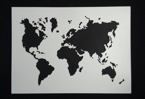World Map Stencil The Choc Den