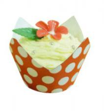 Polka Dot Wrappers (12) with baking cups Red