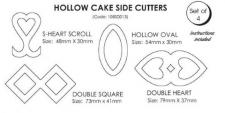 Hollow Cake Side Cutters (Set of 4)