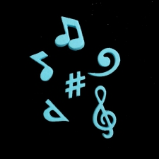 Icing Decor - Music Notes - Blue