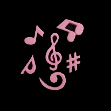 Icing Decor - Music Notes - Pink