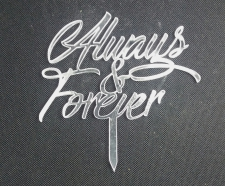 Mirror Topper - Always & Forever - Silver